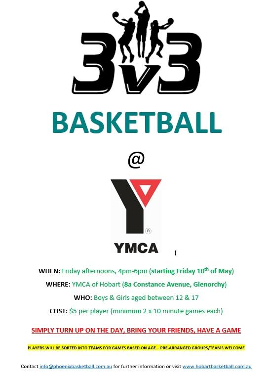 Hobart Basketball 3 x 3 at YMCA